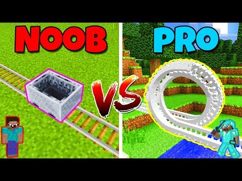 NOOB vs PRO - ROLLERCOASTER! - in Minecraft PE