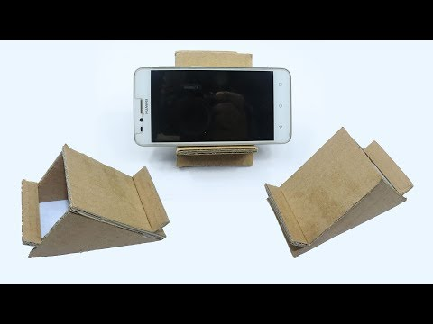 DIY Mobile Phone Stand Using Cardboard - Easy Cardboard Stand for Smartphones