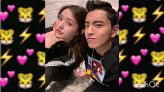 """Wang Talu & Lin Yun from """" Fall in love at the first kiss """" Sweet selfie & video"""