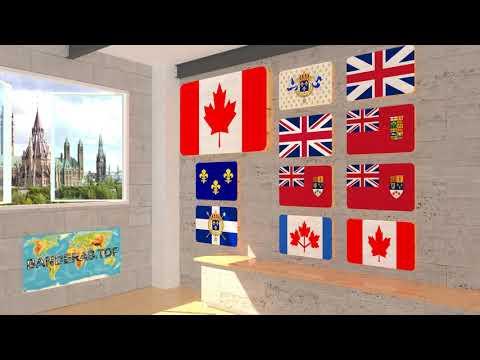 Himno y banderas de Canadá | Canada flags and anthem