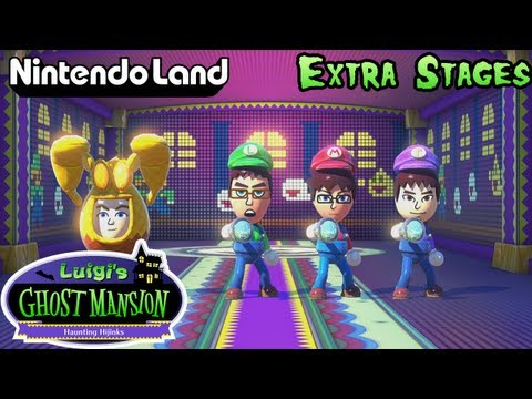 Nintendo Land - (Co-op) Luigi's Ghost Mansion (Extra Stages)