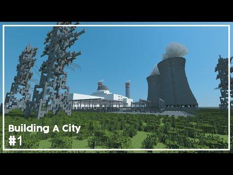 Building A City #1 // Nuclear Power Plant // Minecraft Timelapse