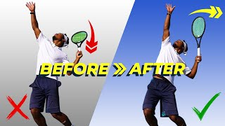 How To Generate EFFORTLESS POWER On The Tennis SERVE In 3 Steps