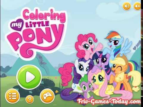 Мультик игра Раскраски маленьких пони (My Little Pony ...