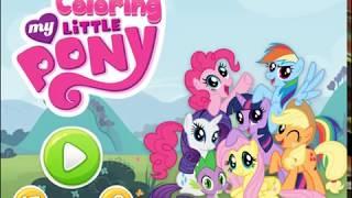 Мультик игра Раскраски маленьких пони (My Little Pony Coloring)