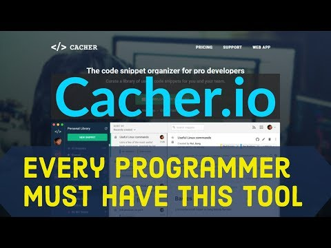Cacher - Best Code Snippet Tool Every Programmer Must Have