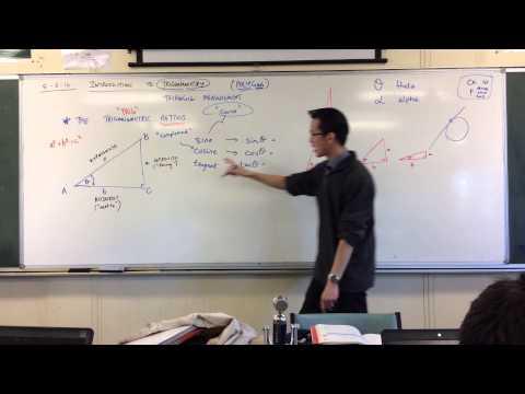 Defining The Trigonometric Ratios