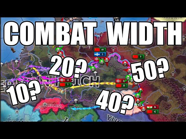Best combat width in Hearts of Iron 4