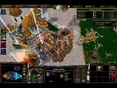 [war 3 - Dday] --  Bọ Hung 1 hit la bung nhà !