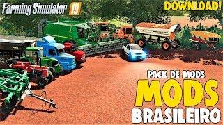 Pack de mods BRASILEIRO para Farming Simulator 19 *download*