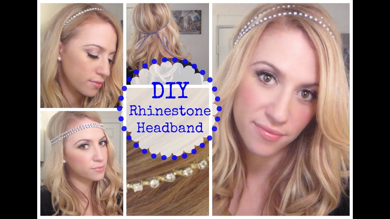 Wedding Rhinestone Headbands diy rhinestone headband youtube headband