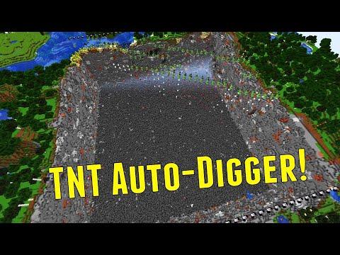 How To Make A TNT Auto Digger - Automatically Make A Huge Hole Like Mumbo Jumbo