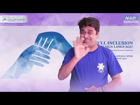 "NAD India News:- International Week of The Deaf 2017, ""Full Inclusion with Sign Language."""