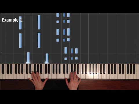 4 Chords to Improvise / to Sing #1 (Axis of Awesome) - How to Play piano (Synthesia)
