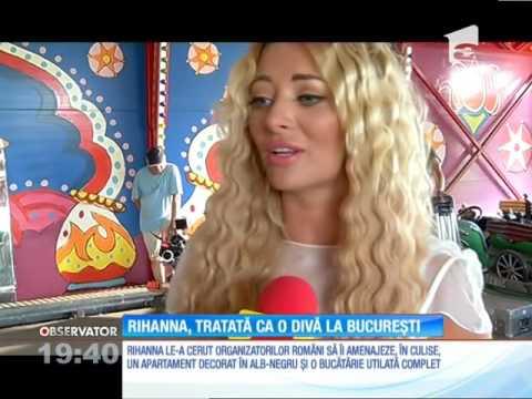 Rihanna, tratată ca o divă la București
