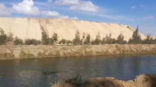 99New Suez Canal: a scene in the digging of the Suez Canal near the new Al-Salam Canal