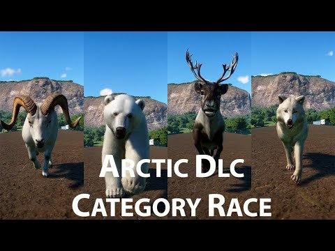Arctic Dlc Category Race in Planet Zoo - Polar Bear Artic Wolf Dall Sheep Reindeer |