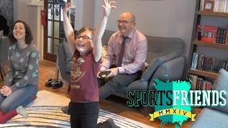 Dad and Daughter Play SportsFriends Pole Riders (PS4)