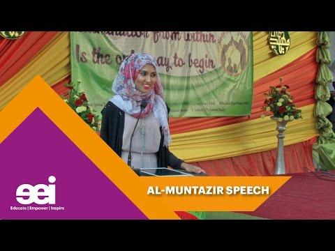 Almuntazir School Speech Fatema Dewji Jaffer