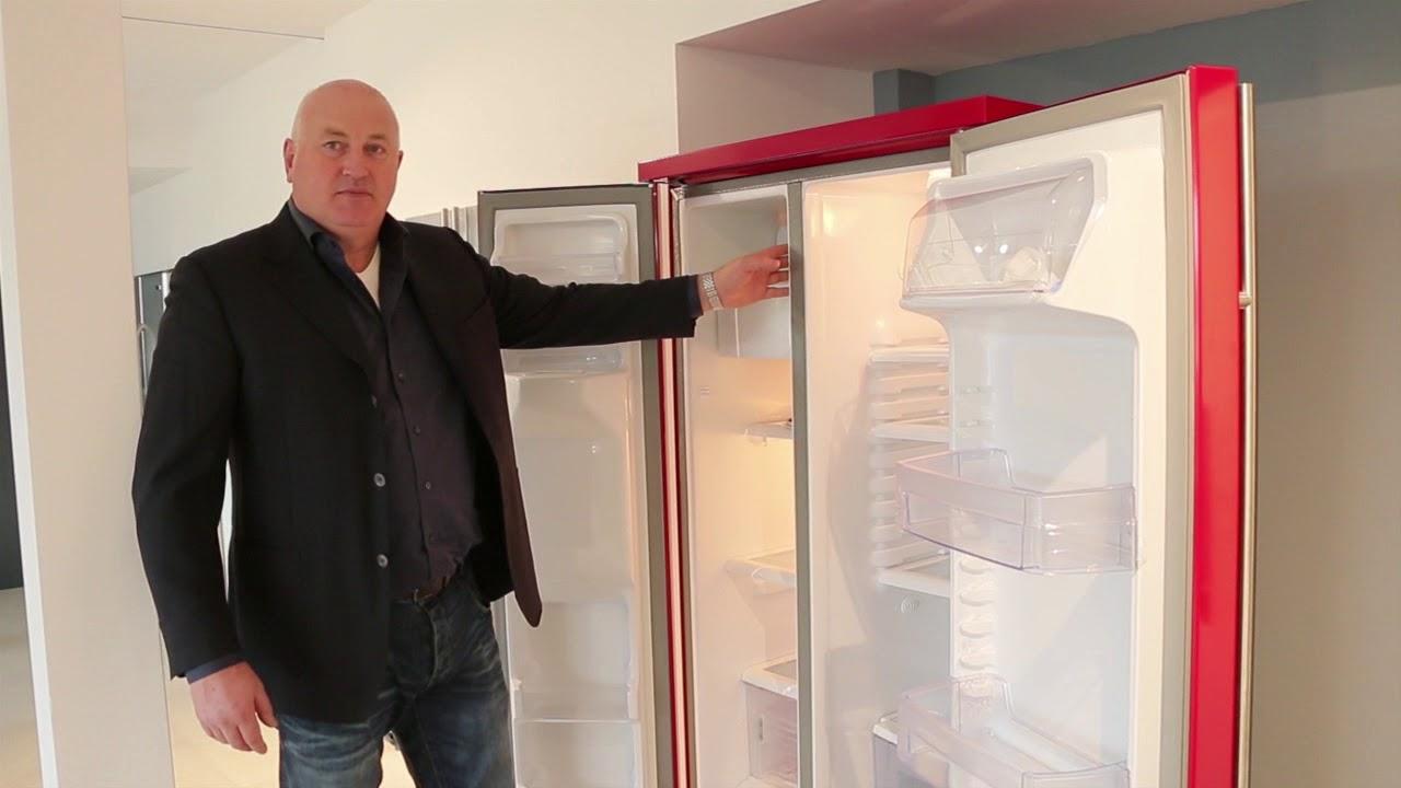 Roter Side By Side Kühlschrank : Side by side kühlschrank roter amerikanischer side by side