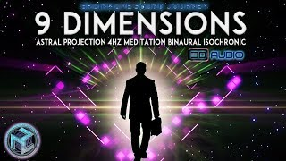 DEEP & POTENT: ♛ BEST Music For ASTRAL PROJECTION ♛THETA MEDITATION BINAURAL BEATS 4 HZ  OUT OF BODY
