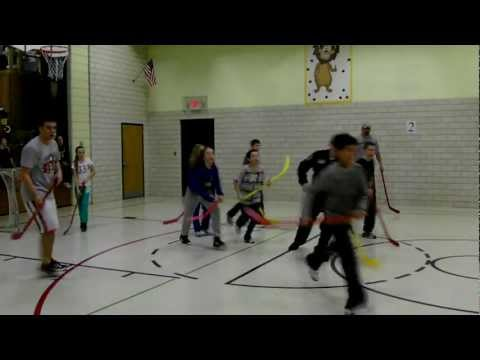 Floor Hockey at Deer River King Elementary School