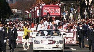 楽天優勝パレードに21万人