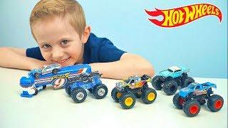 Чудо Машинки для детей ХотВилс Монстер Трак и Машина Дальнобойщика - Hot Wheels Monster Jam