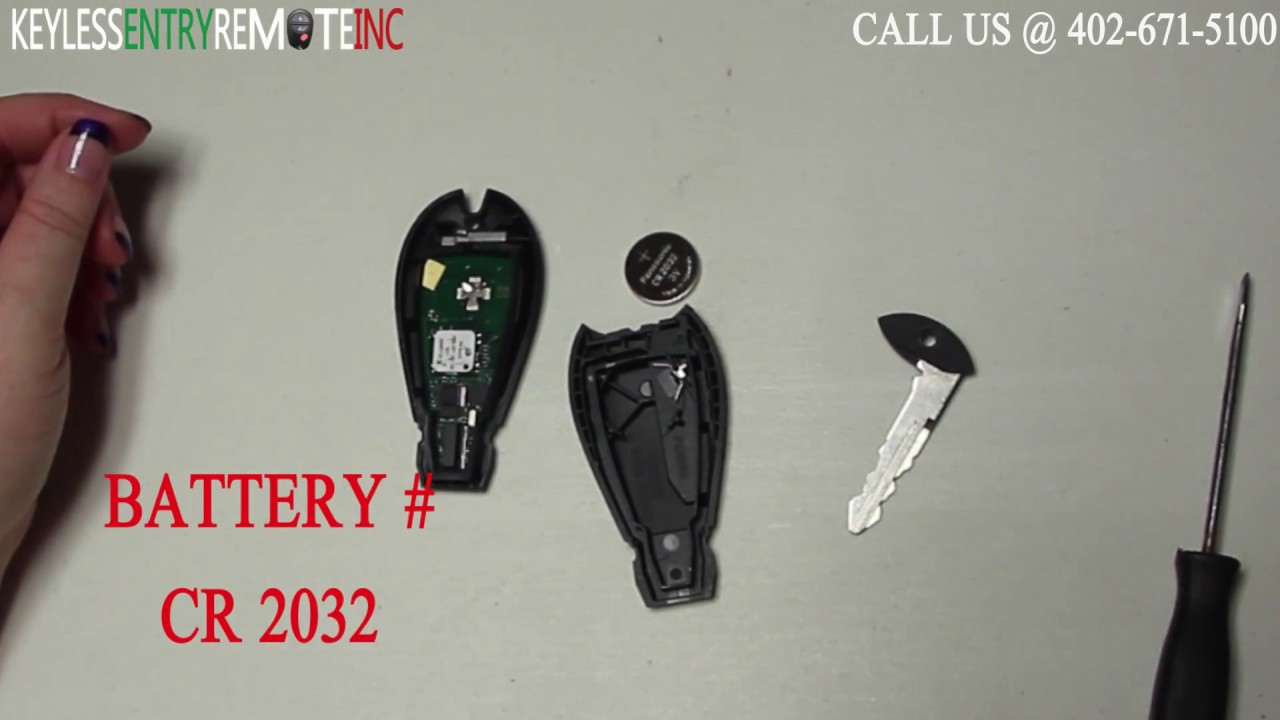 How to replace dodge challenger key fob battery 2014