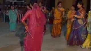 Dasara 2013 Dandia dance(Hindi songs) by Reena Jaiswal and her friends in Hyderabad