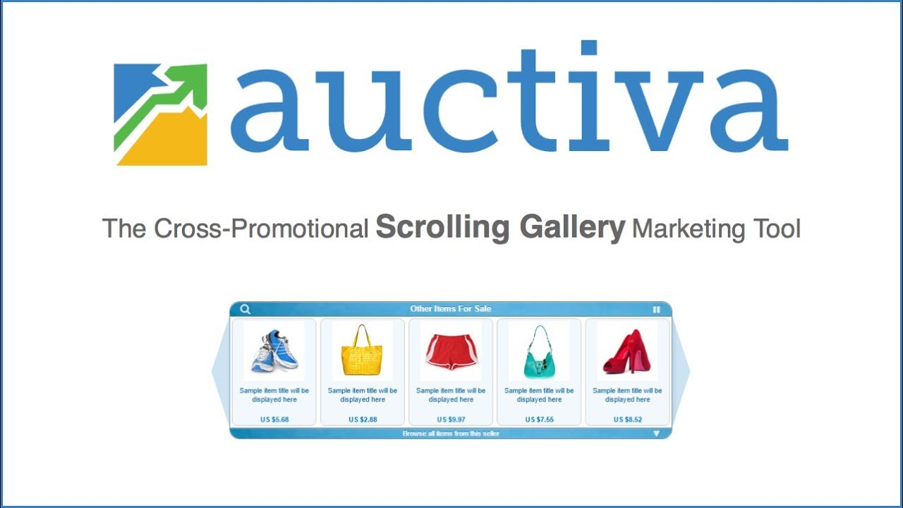 gallery updating scrolling Auctiva not