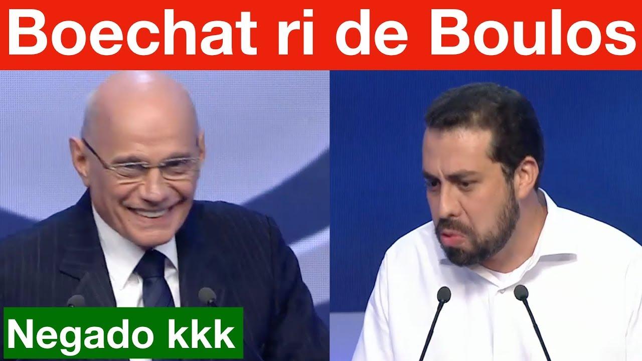 Ricardo Boechat tira onda da cara de Guilherme Boulos, no debate da Band