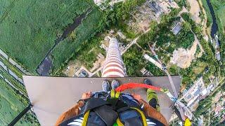 BNT 299 W Szczecinie na wielkim kominie (Dream Jump Big Tower 252 metry)
