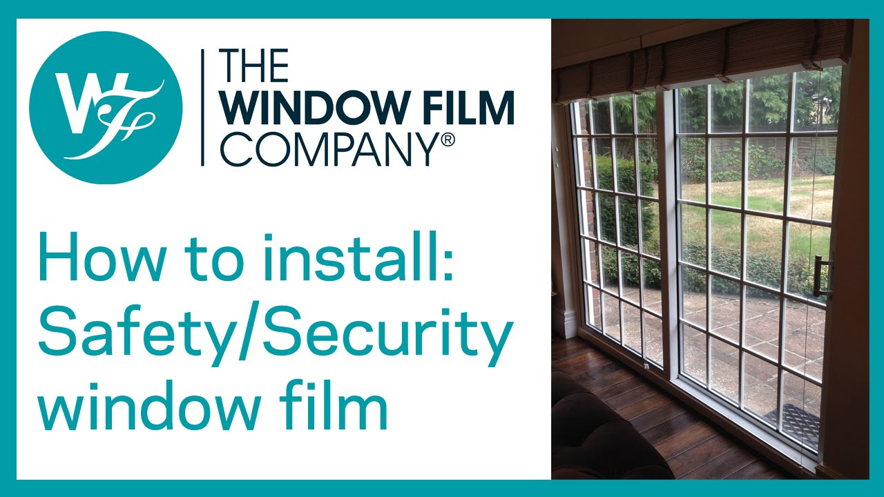 How to install clear safety and security window films by for Window companies