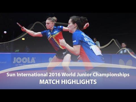 WJTTC 2016 Highlights: Adina Diaconu/Andreea D. vs Hina Hayata/Kat Miyu (Final)
