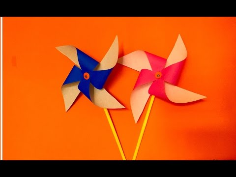 How to make Paper Pinwheel craft for kids | Spinning Paper Windmill kids craft