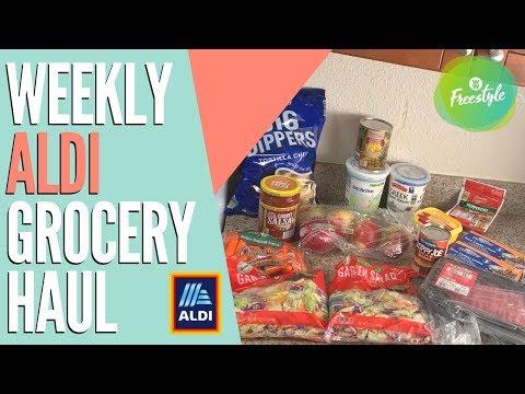 weekly-aldi-grocery-haul-for-ww-freestyle-|-taco-salad,-candy-apple-salad,-buffalo-dip-&-sloppy-joes