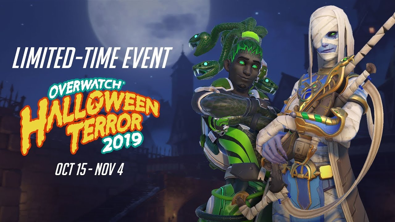 Overwatch Halloween 2020 Emotes And Highlight Intros Overwatch Seasonal Event | Halloween Terror 2019   YouTube