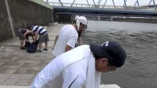 荒川上平井橋からゴムボートでクルージング 荒川ロックゲート、スカイツ...