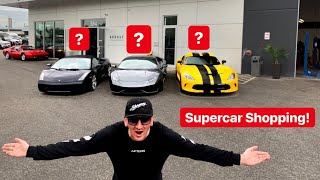 REPLACING MY CRASHED LAMBORGHINI *SUPERCAR SHOPPING*