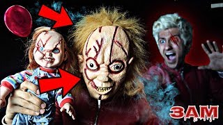 DO NOT BRING CHUCKY DOLL BACK TO LIFE AT 3AM!! *OMG HIS IN MY HOUSE*