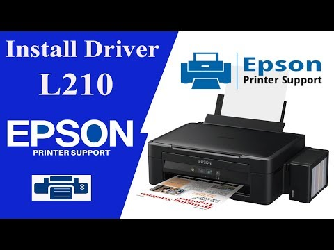 EPSON L210  Driver, How To Install