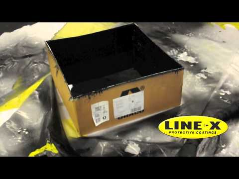 LINE-X Lets You Walk on Water - Waterproof a Cardboard Box with LINE-X Polyurea