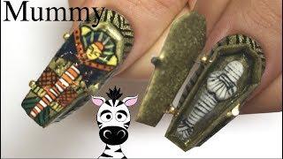 4D Opening Mummy Coffin Acrylic Nail Art Tutorial