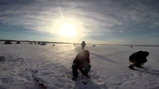 Зимняя рыбалка на Гилевском водохранилище.