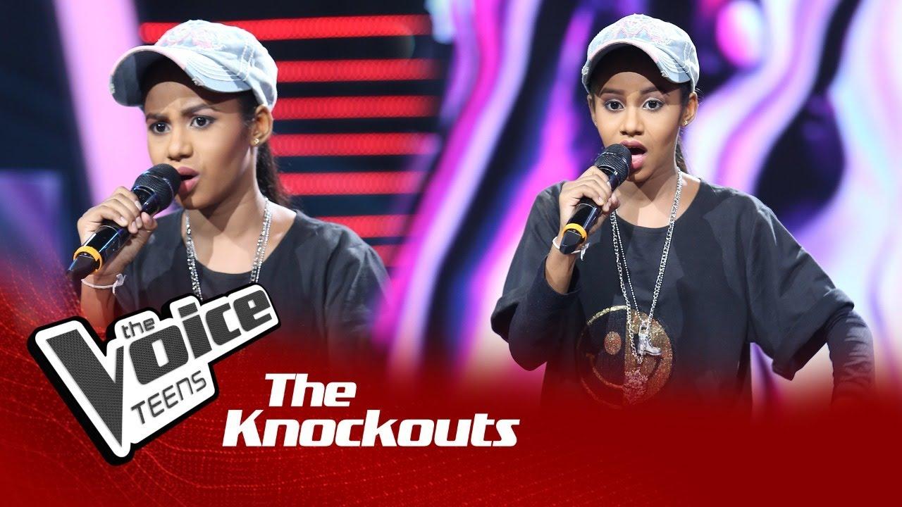 Malindi Shenara | Aron Maama (ආරොන් මාමා) | Knockouts | The Voice Teens Sri Lanka