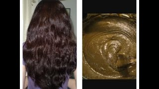 Turn grey hair in only one application// How to prepare henna hair dye paste for silky smooth hair
