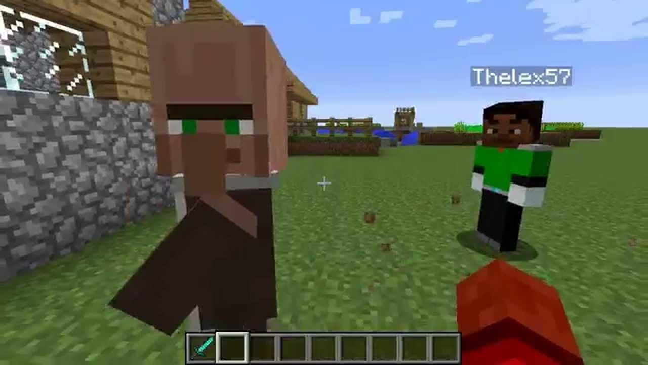 Minecraft comment cr er un village pnj en survie youtube - Comment creer un chateau dans minecraft ...