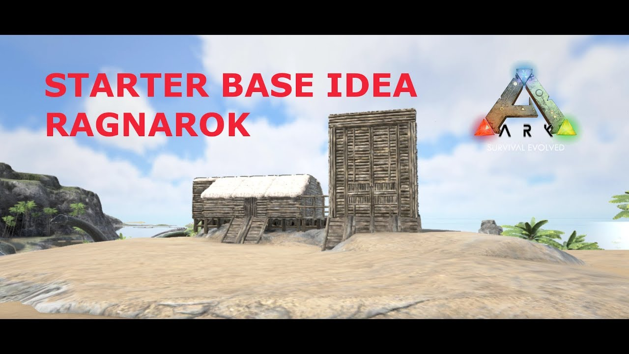 First Day On Ragnarok   Starter Base Idea   ARK Survival Evolved (PVE  Official Server)