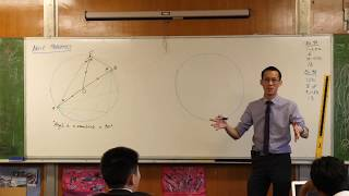 Angle Properties - Circle Geometry (Angle in a semicircle)